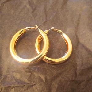 Rosegold hoop earrings , brand new!